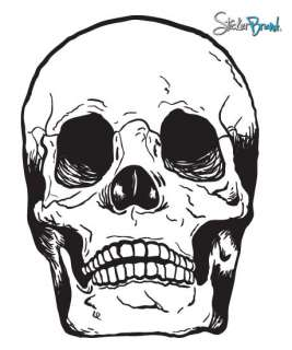 Vinyl Wall Decal Sticker Skull Head Bones Big 72X53