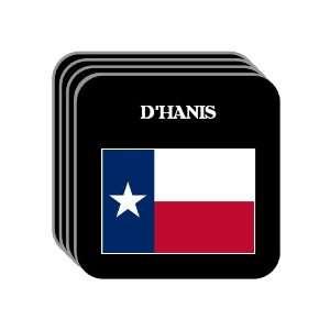 US State Flag   DHANIS, Texas (TX) Set of 4 Mini Mousepad
