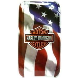 Apple iPhone 3G/3GS Harley Davidson SnapOn Case, USA Flag