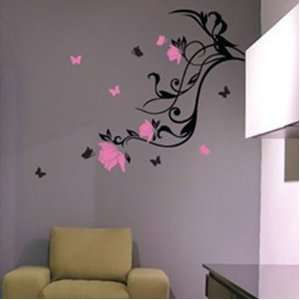 Small Flower Wall Sticker Practical Decal Mural