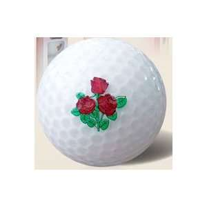 FL Golf Ladies Crystal Golf Balls 1 Dozen   Red Rose: