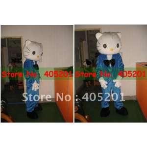 blue dress male hello kitty mascot costume for wedding