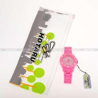 10 Colors HOTARU Jelly Plastic Quartz Men Women Lady Sport Wrist Watch