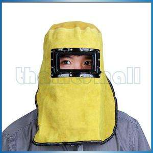 High Quality Lift Front Leather Welding Hood Helmet New