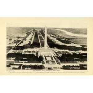 Print Washington Monument Proposed Plan Capitol Architectural Design