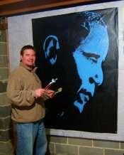 MICHAEL JACKSON THRILLER 5 FT X 5 FT Artist ED PEAHOTA