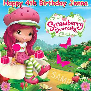 STRAWBERRY SHORTCAKE  Edible Cake topper 1/4 sheet  FREE