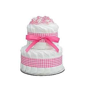 Mini Pink 2 Tier Diaper Cake Baby