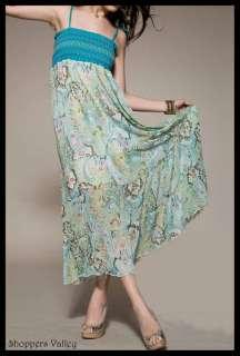 Brand New Green Paisley Tube Skirt Long Maxi Dress