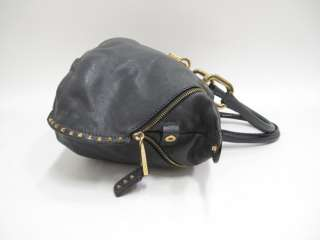 Marc Jacobs Gray Leather Gold Studded Large Tote Bag