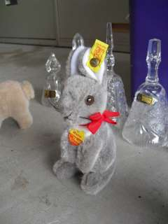 Vintage Mohair Steiff Manni the Rabbit 6 1/2 Tall LOOK