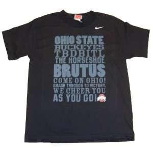 Ohio State Youth Black Phrase T shirt