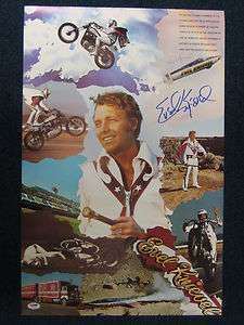 Evel Knievel Signed Collage Poster (PSA/DNA)