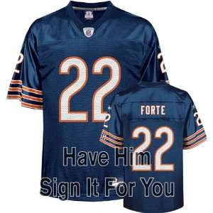 Matt Forte Chicago Bears Personalized Autographed Jersey
