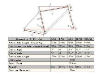 Hylix M01 Carbon Road bike Frame+Fork 980g No Logo Raw