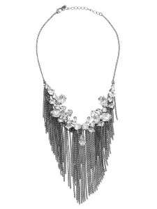 NEW GUESS MARCIANO LUXE KILL CRYSTAL FRINGE NECKLACE