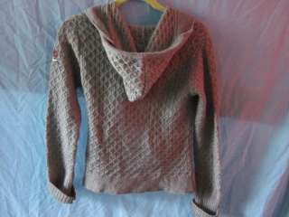 Molly Uncorporated Gray Cardigan Wrap Sweater Sz 1 Women Hooded