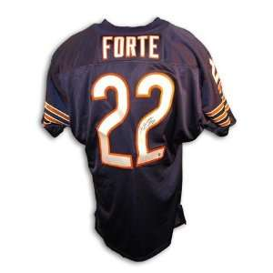 Matt Forte Autographed/Hand Signed Throwback Jersey