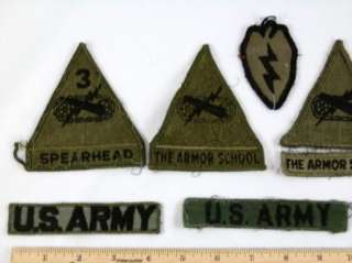 WWII Vietnam Era US ARMY Patch 25th Infantry 3rd Inf Spearhead Armor
