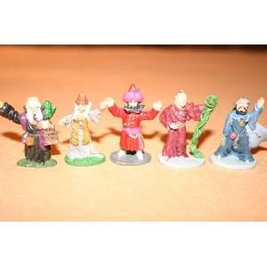 figurines 25 mm from the early years 5 magic users