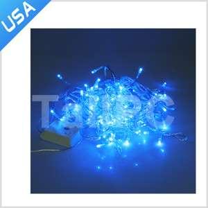 New Blue Color 9.5M 100 Led String Fairy Light Christmas Tree Wedding