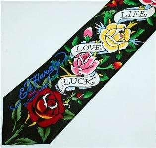 ED HARDY Christian Audigier LIFE Love LUCK NECKTIE TIE