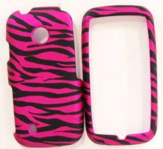 LG Cosmos Touch VN270 Verizon HARD Case Skin Cover Hot Pink Zebra