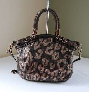 358 Coach 18638 Madison Sequins Mini Sophia Bronze Leppard