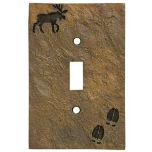 Moose & Tracks Stonecast Single Switch Plate Cover: Home