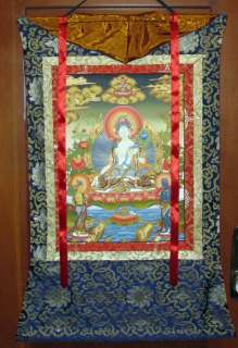 WHITE TARA GODDESS TIBETAN BUDDHIST TANGKA THANGKA PAINTING II