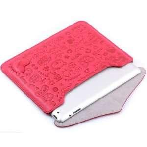 Koolertron Red Smart Cover Lovely Girl Leather Case for
