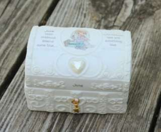 Precious Moments   June Birthday Trinket Box