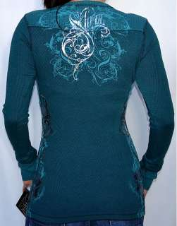Sinful by Affliction VISCARIA Womans Long Sleeve Thermal   S1863