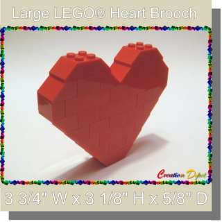 LEGO® Fashion Jewelry Large Heart Brooch Pin