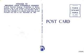CARDINAL CUSHING LAST RITES JOHN F. KENNEDY FUNERAL