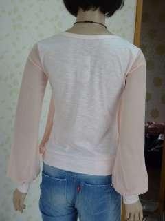 Japan Ballon Princess Chiffon Woman Top Blouse Shirt Vintage Elegant S