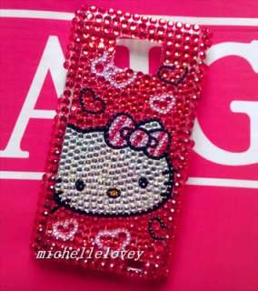 Hello Kitty Bling Diamond Crystal Back Cover Case for Samsung Galaxy