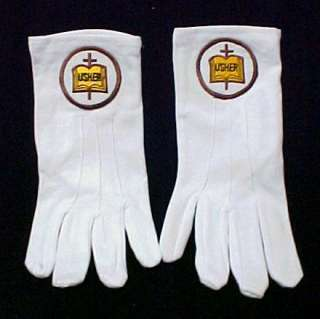 brand new 100 % white nylon knit usher gloves wrist
