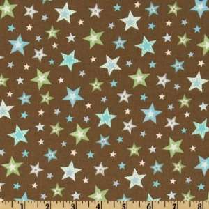 44 Wide Bear Hugs Stars Coco Fabric By The Yard: Arts