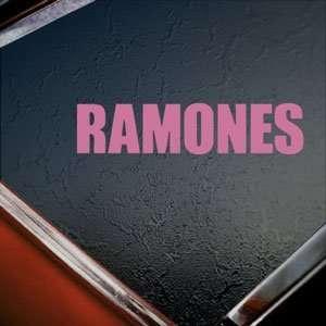Ramones Pink Decal Punk Rock Band Truck Window Pink