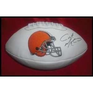 Colt McCoy Autographed Cleveland Browns Logo Fo