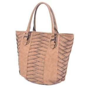 LSQ00626DP Camel Deyce Zippi Quality PU Women Large Tote Bag Beauty