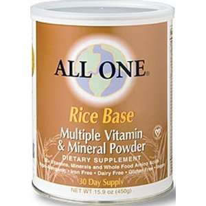 Nutrient Powder Milk Free Rice Base 15.9 Oz   All One
