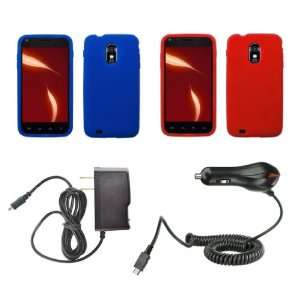 (Blue, Red) + Atom LED Keychain Light + Wall Charger + Car Charger
