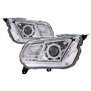 2010 2011 Ford Mustang CCFL Halo Projector Headlights (HID