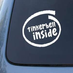 TINKERBELL INSIDE   Car, Truck, Notebook, Vinyl Decal Sticker #2184