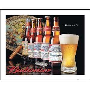 Bud Hisory of Budweiser Beer Meal in Sign Nosalgic