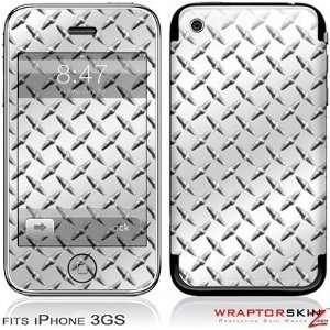 iPhone 3GS Skin   Diamond Plate Metal Skin and Screen