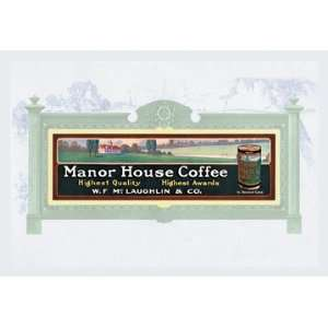 Manor House Coffee 12X18 Art Paper with Black Frame