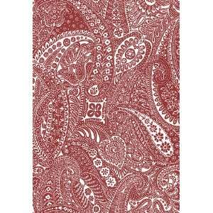 Paisley Print Red by F Schumacher Wallpaper